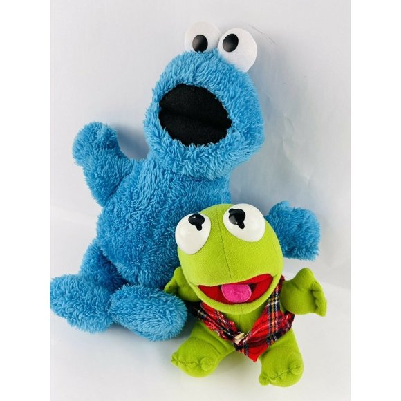 cookie monster vintage Baby kermit the frog plush